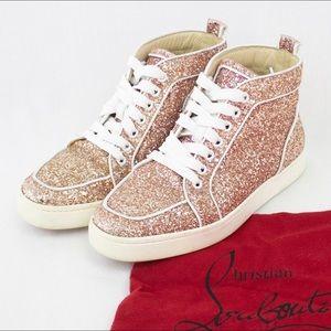 Christian Louboutins Rantus Orlato Glitter Sneaker